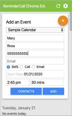 Google Reminder Event Setup