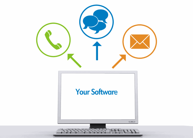 Automated Calls, Texts and Emails are sent from your software!